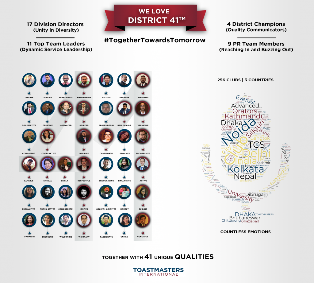 District 41 Toastmasters - 41 Qualities