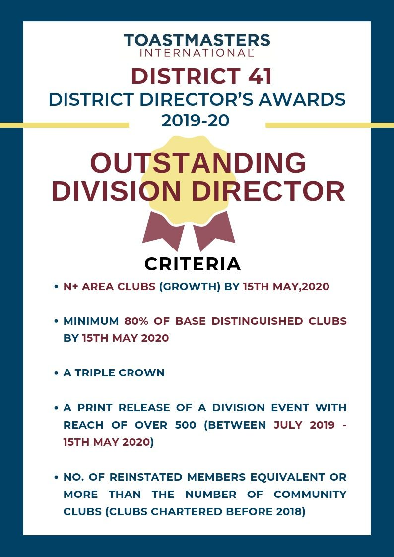 Outstanding Division Director